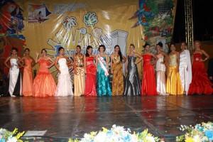 Hermosas tinaquilleras participaron en la eleccion de la reina de la I expo feria