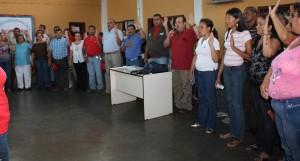 Alcalde y villanueva juramentaron comando de campaña