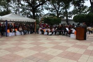 Acto celebrado en la plaza bolivar