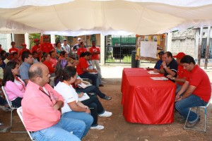 Rueda de prensa en simon bolivar
